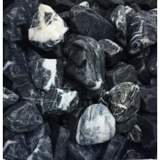Мрамор чёрный галтованный 20-40 мм